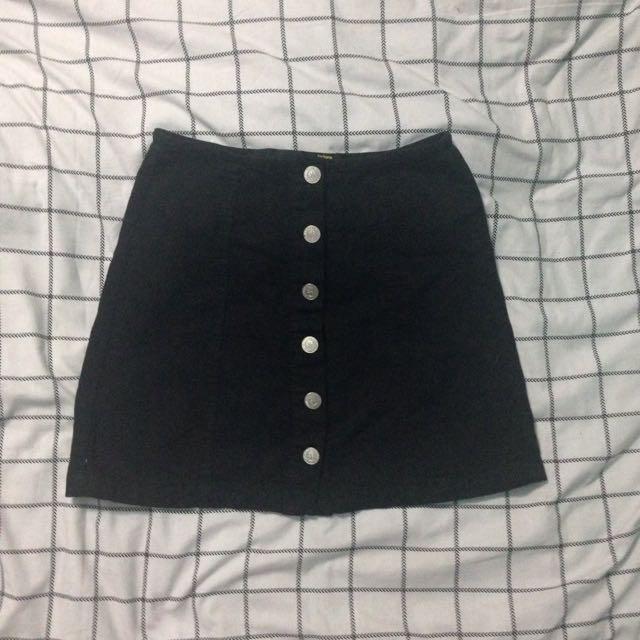Vintage Button Up Denim Skirt