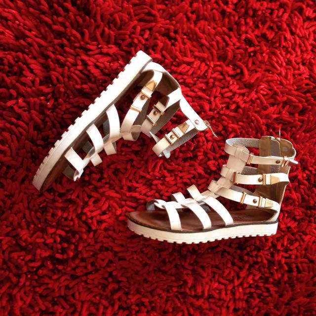 Gold&Gold White Sandals