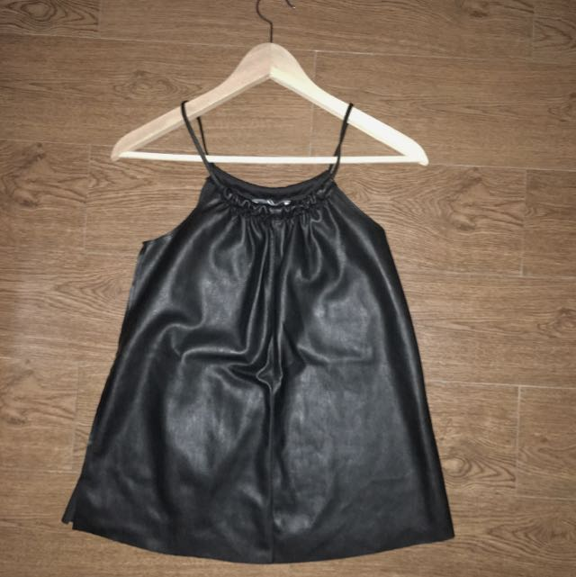 ZARA LEATHER TANK TOP