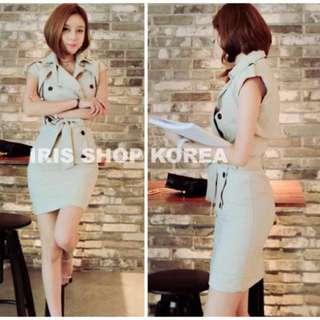 正韓風衣洋裝