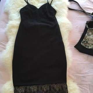Lacey Black Classy Dress
