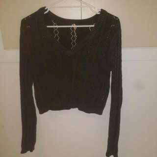 All About Eve Size 8 Crop Jumper