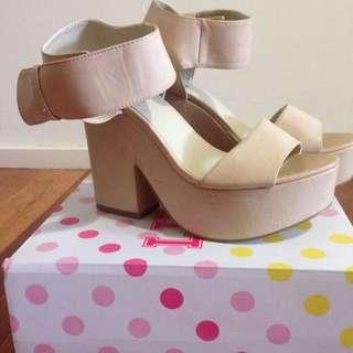 Lipstick Windsor Smith High Heels Tan Bone Brown Platform Shoes