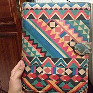 Abstract Blue Binder