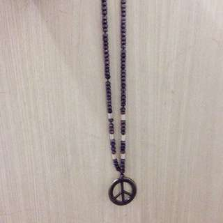 Brown Peace Necklace