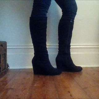 Knee-high Wedge Boots