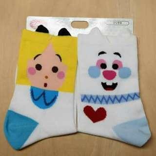 迪士尼 愛麗絲 時間兔 絕版 長襪