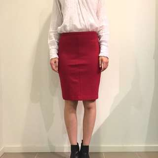 DVF Red Skirt