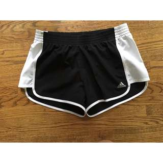 Black And White Climalite Adidas Shorts