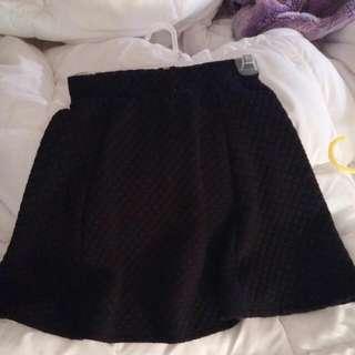 Xs Black H&m Skirt