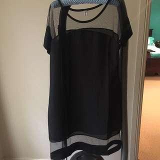 Black Dress With Sheer Bits