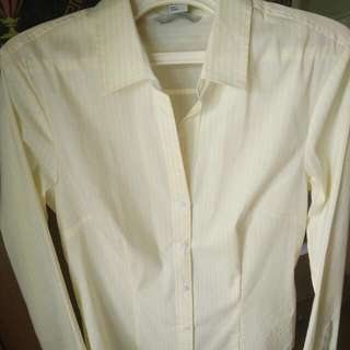 H&M Yellow Stripe Shirt