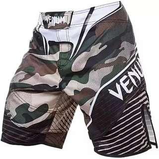 Venum Camo Hero Fight短褲MMA搏擊UFC海灘褲子綜合格鬥迷彩泰拳毒液(有小瑕疵)
