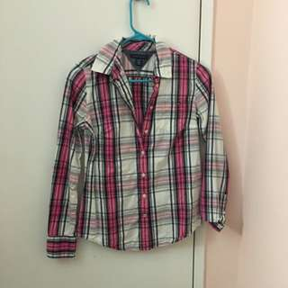 Tommy Hilfiger Plaid Top