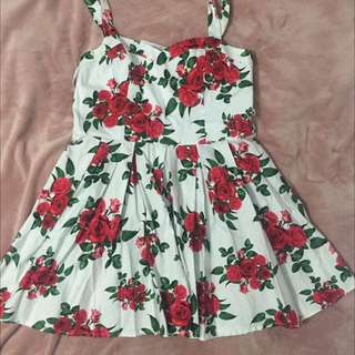 HELL BUNNY FLORAL DRESS - SIZE XL