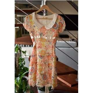 Alana Hill Size 10 Silk dress baby doll
