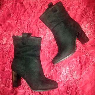 Black Mid Calf Boots Size 38