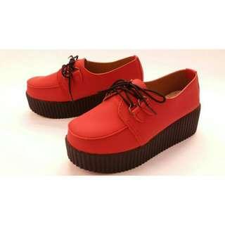 23號💓日系厚底鬆糕鞋 紅色 軟妹 可愛