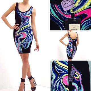 HERVE LEGER BANDEAU DRESS (Retail $2300)