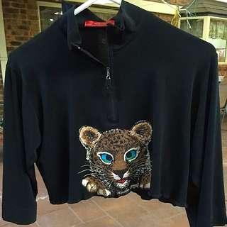Black Tiger Crop Top
