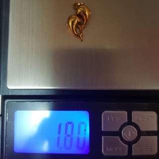 Dolphin 18k dubai gold