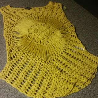Knitted Yellow Singlet