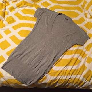 Long V Neck Sweater Dress - 6