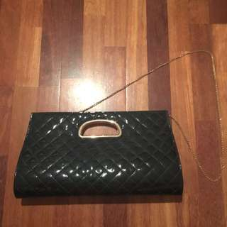 Forever New Black Large Clutch