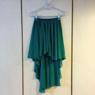 草綠不規則紗裙