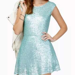 Tobi Sequin Mint Dress