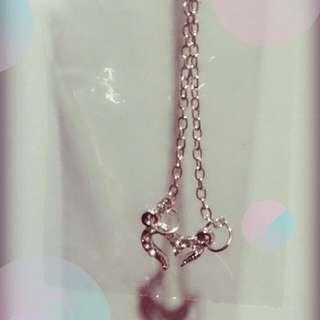 銀色愛心項鍊