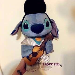 日本帶回獨家限量稀有款迪士尼disney正版史迪奇stitch扮貓王娃娃