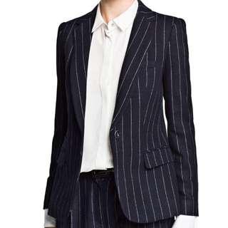 Mango Women's Pinstrip Wool-Blend Suit Blazer