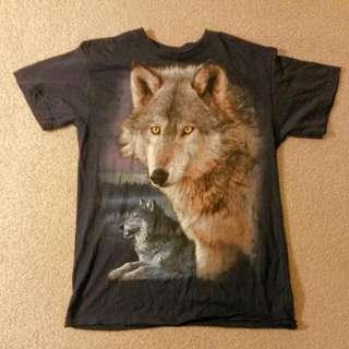 Wolf Navy Medium T Shirt