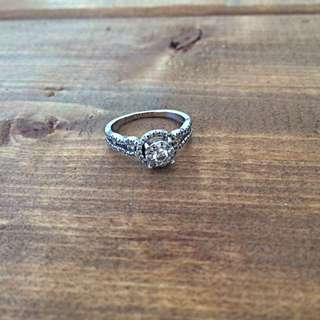 Engagement Ring - White Gold With Diamonds
