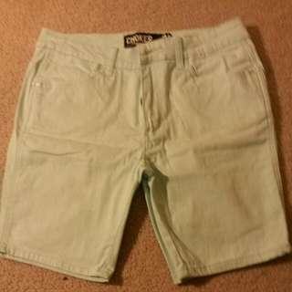 Aqua Size 34 Shorts