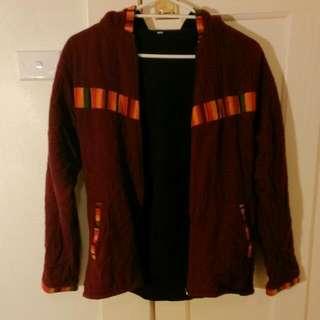 Maroon Large Hooded Jacket