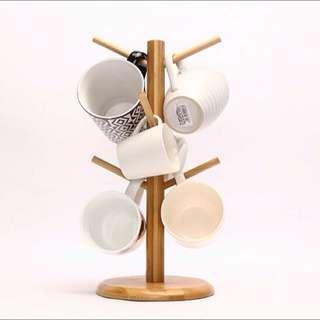 ZAKKA 歐式樹枝型木製馬克杯架 鄉村風 廚房收納架