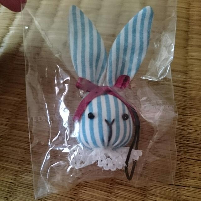 兔子手工吊飾