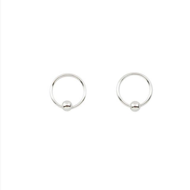 小珠珠圈圈耳環/銀