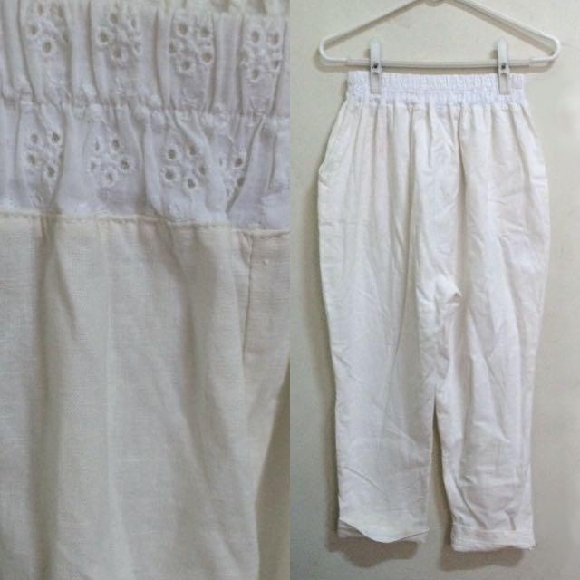 白色の老爺褲