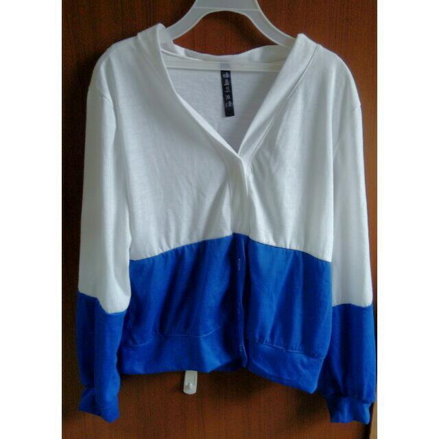藍白色撞色小外套