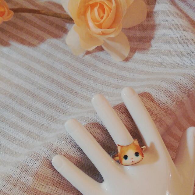 喵星人貓咪俏皮戒指