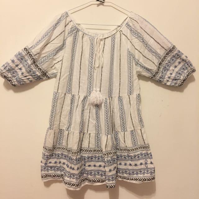 民俗風棉麻洋裝