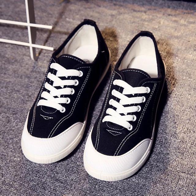 黑色休閒鞋 布鞋