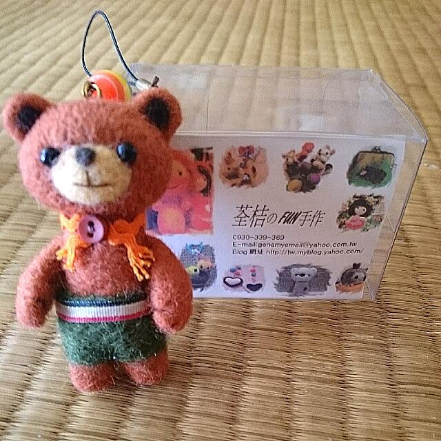 小熊 毛針氈 手工藝品