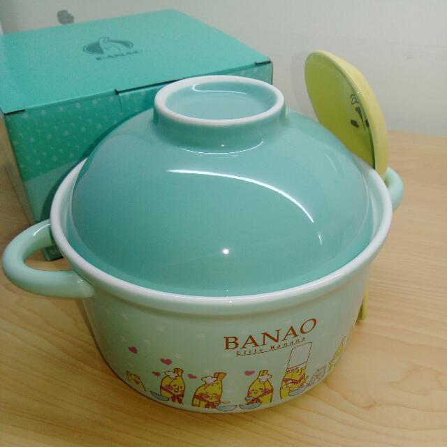 屈臣氏 香蕉人 陶瓷碗組