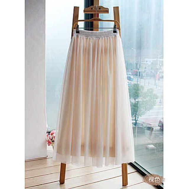 淘寶 錦衣衛 紗裙 裸色 68cm