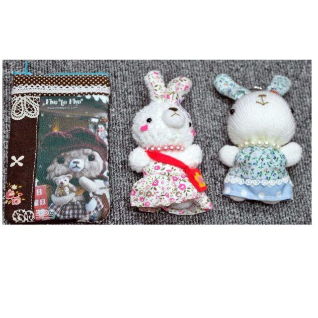 兔兔 兔子 手機套 鑰匙圈 手工製品 手工娃娃 (創意市集) 原價$450 特價$299