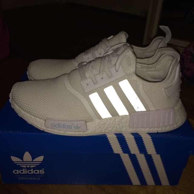 Adidas Triple White Nmds Size 10.5 US